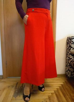 Стильные красивые брючки кюлоты, юбка - брюки с карманами. размер 16