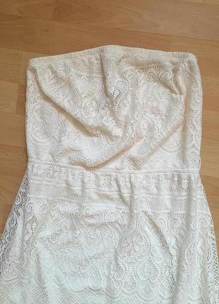 Кружевное длинное платье asos