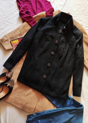 Пальто прямое большое свободное оверсайз чёрное батал
