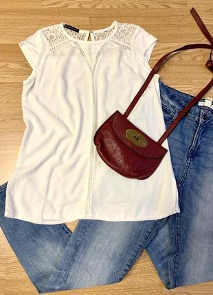 Фирменная белая блуза zara,легкая блузочка-оверсайз,вискоза