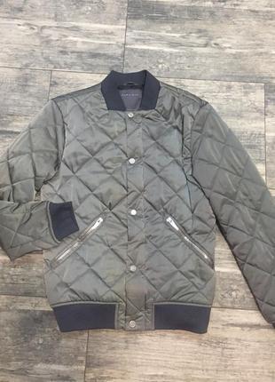 Zara бомбер куртка стёганая s