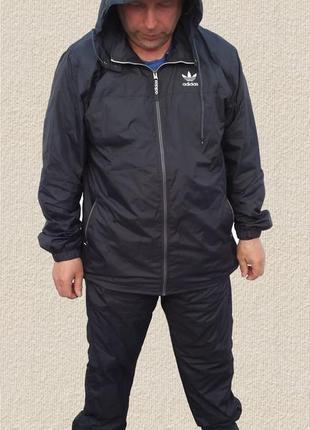 Adidas мужской спортивный костюм плащёвка большого размера.