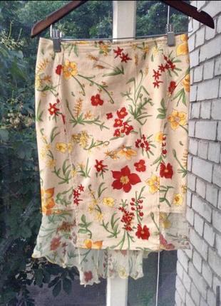 Летняя юбка с цветочным принтом от stefanel
