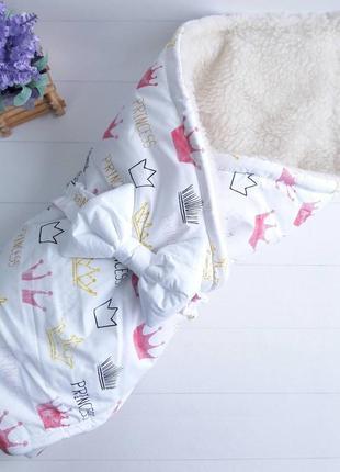 Зимнее одеялко-конверт на овчине