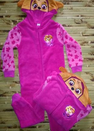 Nickelodeon флисовая пижама кигуруми слип 110-116