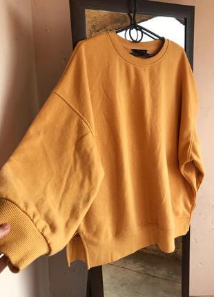 Свитшот желтый кофта спортивная,new look
