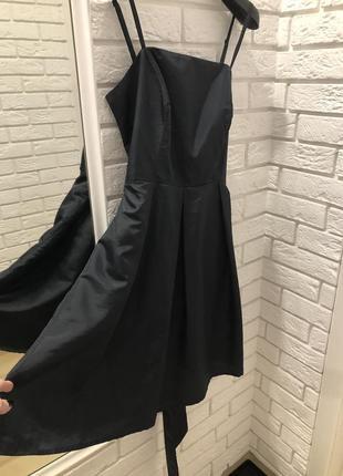 Платье сарафан чёрное с бантом пышное