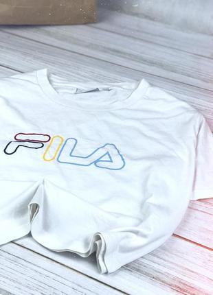 Оверсайз футболка fila (укорочённая)