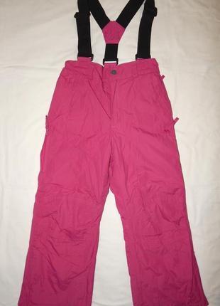 Малиновые горно-лыжные штаны trespass tp50 на девочку 5-6 лет. рост 110-116 см.