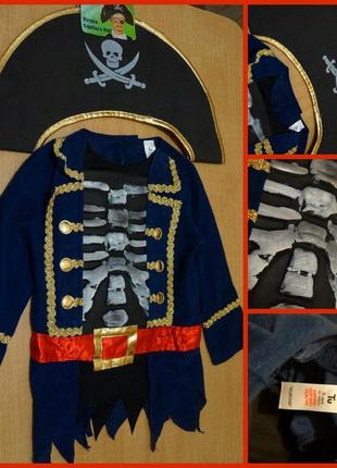 Tu карнавальный костюм пират 3-4 года на хеллоуин , новый год  хелловін