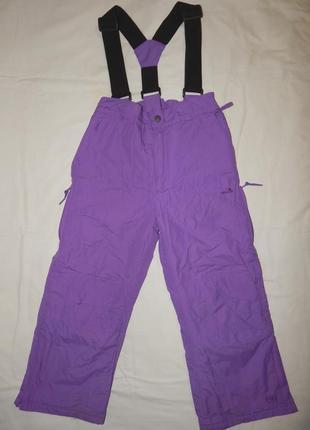 Фиолетовые горно-лыжные штаны trespass tp50 на девочку 5-6 лет. рост 110-116 см.