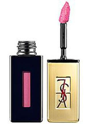 Новый блеск для губ ysl rouge pur couture vernis a levres glossy stain #17 encre rose