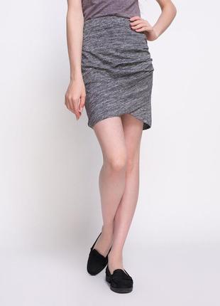 Меланжевая юбка на запхе