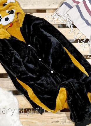 Слип человечек пижама мишка костюм для дома очень теплый