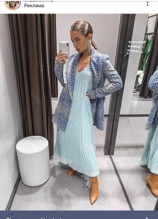 Стильный твидовый пиджак - пальто фирмы zara.