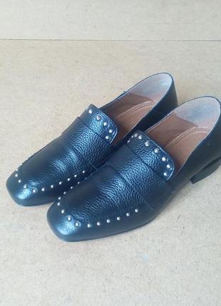 Туфли мокасины asos италия черные