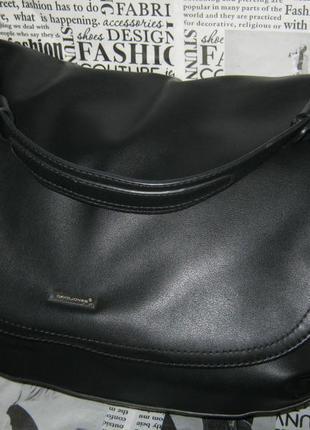 David jones большая черная сумка почтальона эко кожа (не кожаная) состояние новой
