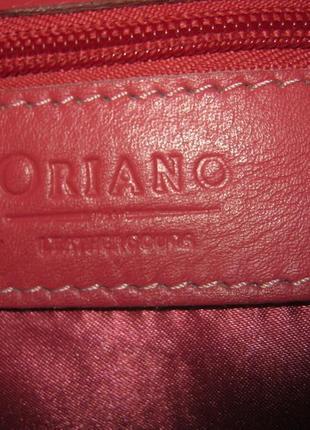 Красивая кожаная сумка достаточно большая на молнии 100% натуральная кожа