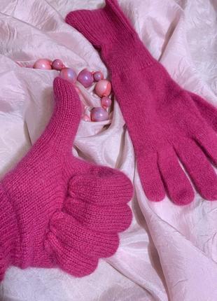 Мягкие тёплые шерстяные перчатки