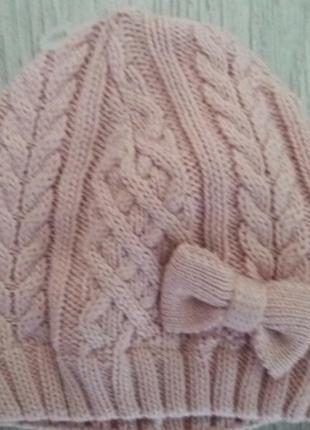 Демисезонная шапочка для девочки. matalan. новая. сток.