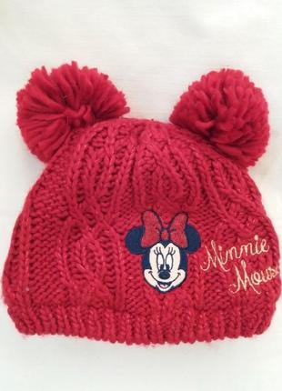 Красивая и теплая шапка для девочки disney matalan. новая. сток.