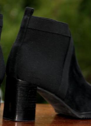 Замшевые ботильоны на устойчивом каблуке