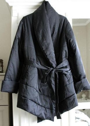 Куртка на запах очень тёплая
