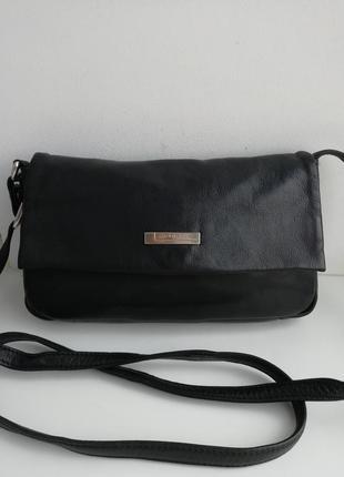 Італійська фірмова шкіряна сумка кросбоді cobain!!! оригінал!!!