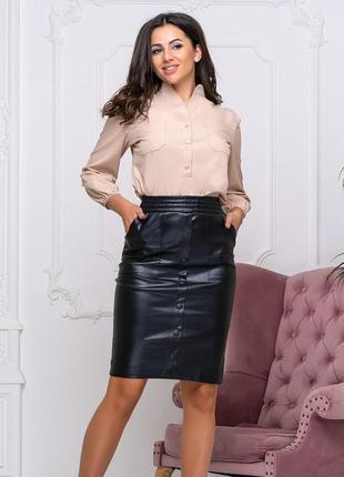 Модная юбка из кожзама 42444648