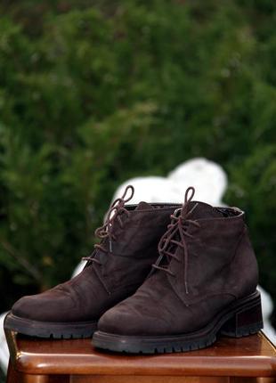 Женские кожаные ботинки clarks