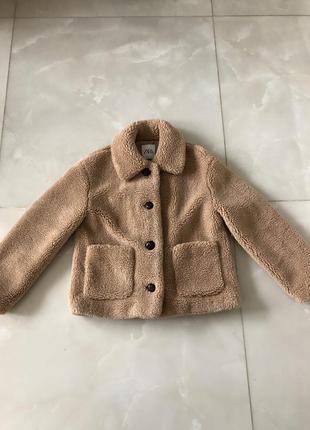 Куртка из искусственной овчины zara