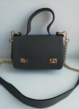 Італійська фірмова шкіряна сумка кросбоді enzo poli!!! оригінал!!!