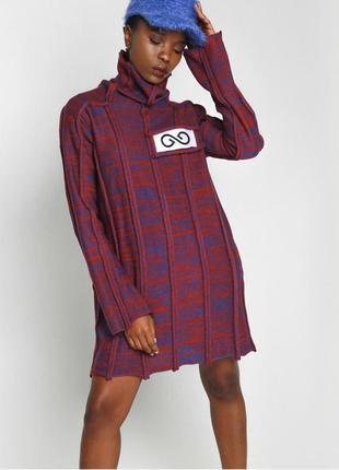 Новое тёплое вязаное платье от украинского дизайнера, меланж, оверсайз