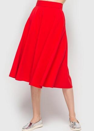 Червона спідниця міді vovk ( красна юбка миди)