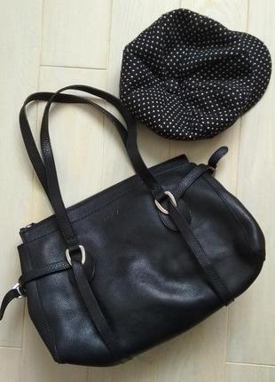 Кожаная сумка hogan