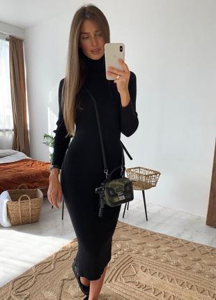 Платье вязаное-резинка