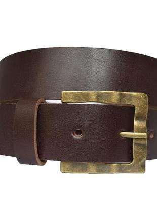 Premium38k1 женский кожаный коричневый ремень пояс натуральная кожа кожанный гладкий