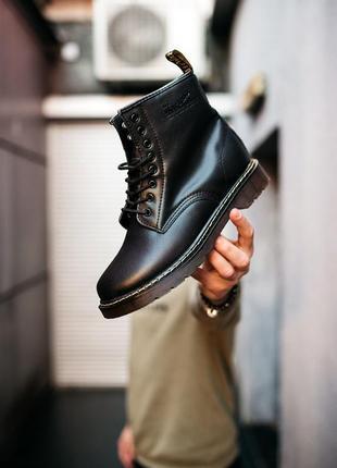 Dr. martens 1460 black чёрные с мехом шикарные женские ботинки теплые