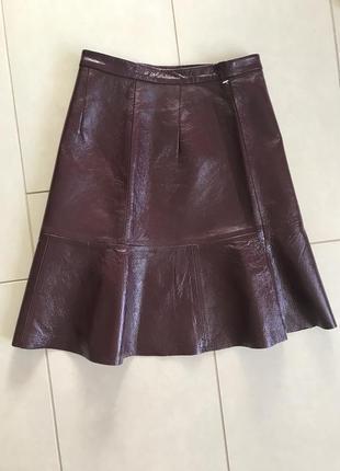 Юбка кожаная стильная модная дорогой бренд other stories размер 34
