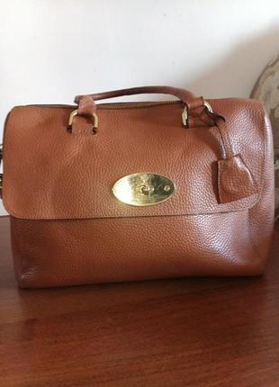Большая сумка 100% кожа mulberry del rey