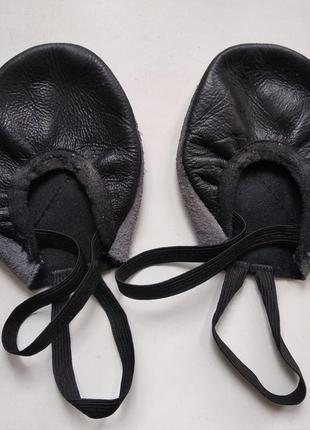 Получешки черные кожаные для танцев, балета, гимнастики, пилона3 фото