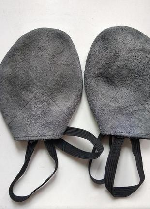 Получешки черные кожаные для танцев, балета, гимнастики, пилона4 фото