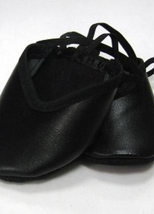 Получешки черные кожаные для танцев, балета, гимнастики, пилона5 фото