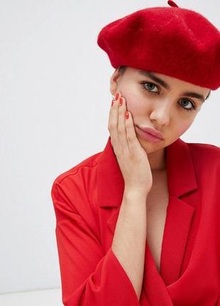 Новый модный беретик, красный