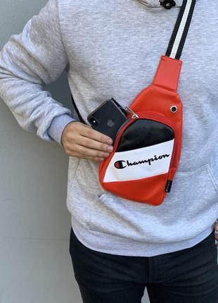 Цветная сумка через плечо из эко-кожи