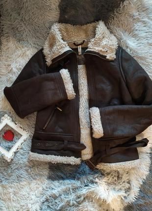 Куртка косуха дубленка утеплена утепленная базовая  шубка парка