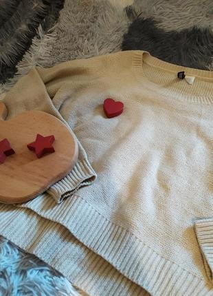 Кофта светр свитер беж бежевый базовый
