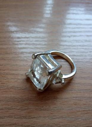 Шикарное коктейльное кольцо 18р. покрытие серебром paolo truzzi италия