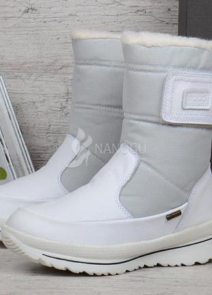 Сапоги зимние кожаные ecco gore-tex terra white белые женские Ecco ... 9123e9cfa280e