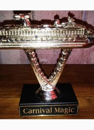 Статуэтка корабля carnival magic, круизный лайнер